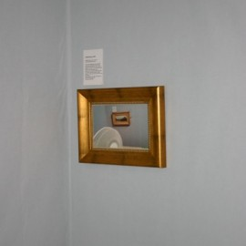 Installation 'Deadham Vale' lost in a room in the Ashmolean Museum.